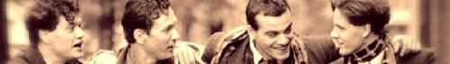Banderol van de Mannelijke Cast van BIJ NADER INZIEN; Porgy Franssen, Rik Launspach