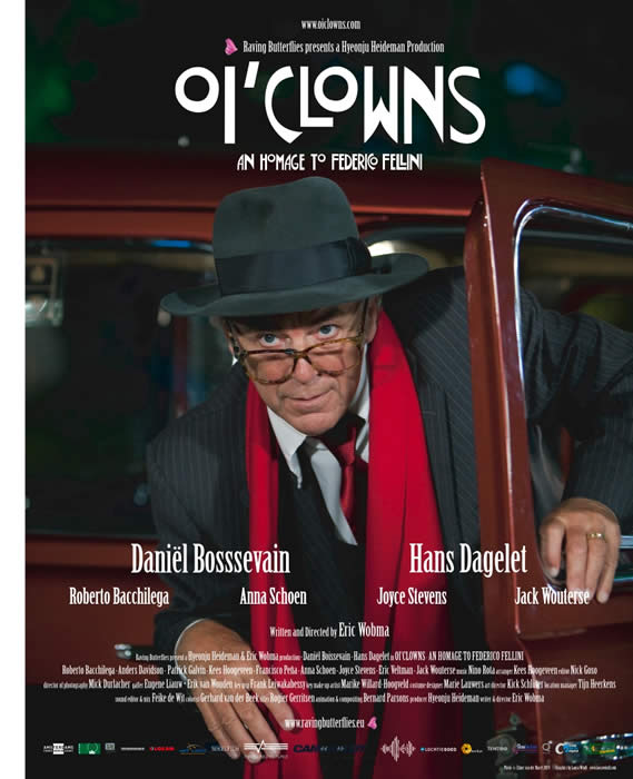 Official Poster OI'CLOWNS - AN HOMMAGE TO FEDERICO FELLINI (A0 SIZED)