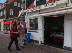 The Hairy Bikers and Eric Wobma in Volendam; photo by Ruth Davies