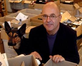 Drs. Helmer Otterman, met zijn hond Lowieke